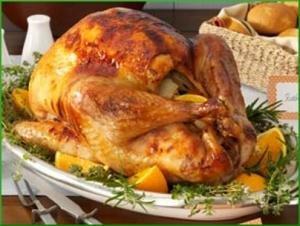 Курица запеченная с апельсинами в духовке