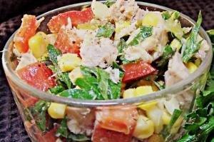 рецепт салата с тунцом консервированным с фото